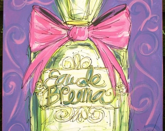 Beautiful Perfume Bottle Personalized Painting