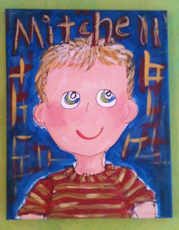 Custom Casual Child Portrait Made To Order