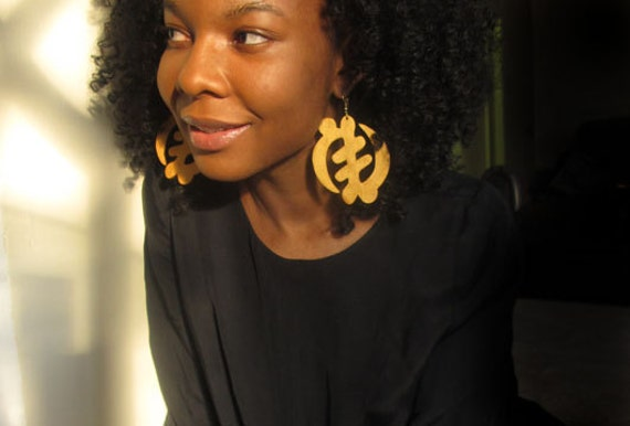 African Adinkra Gye Nyame Earrings