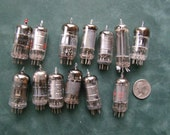 Thirteen antique radio tubes for steampunk, jewelry or assemblage.
