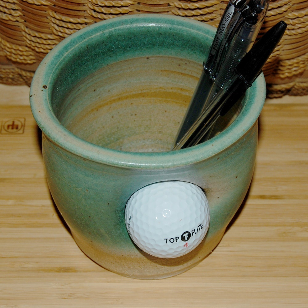 how to make a golf pencil holder