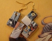 Upcycled Comic Book Earrings