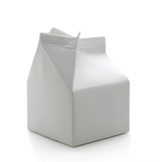 Open Milk Carton Ruth -small milk carton