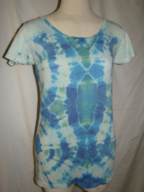 Alternative Apparel Earth Label Organic Cotton Large Tie Dye Clothing Womans