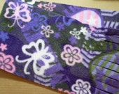 Simple fleece print winter scarf - grey, pink, purple, white READY TO SHIP