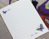 RESERVED FOR CLAIBS-Lined Stationery-Burtterfly or Kitten-Personalized  (Set of 20)