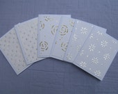 Set of 6 Mini Cards, Wedding Collection