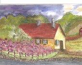 Original Acrylic Painting 'Country Cottage'