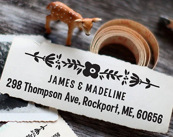 Custom Address Stamp, Self Inking Stamp, Return Address Stamp, Custom Wedding Gift, Custom Rubber Stamp, Personalized Rubber Stamp - 1024