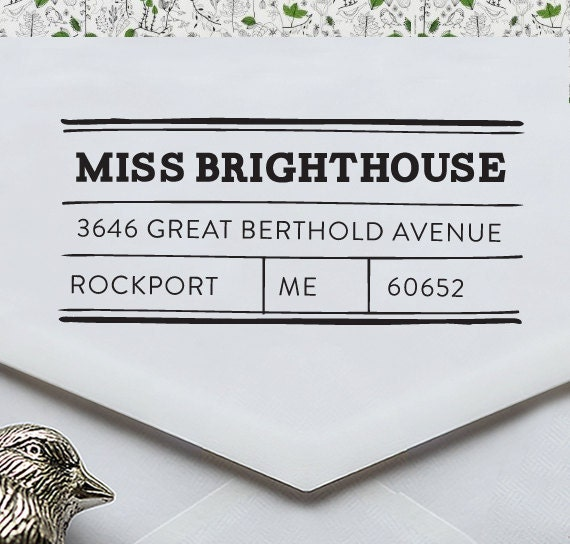 Self Inking Address Stamp - Custom Address Stamp - Wedding Gift - Return Address Stamp - 2032