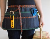 Utility Apron - Green & Red Plaid