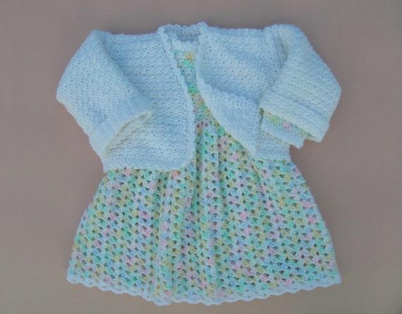Häkeln Sie Baby Kleid neugeborenes Baby Kleid drei Monate