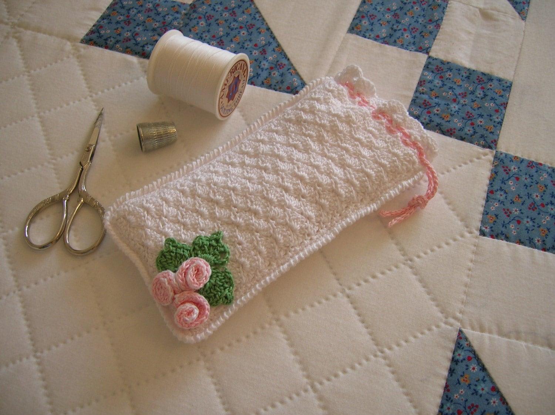 Free Crochet Pattern Eyeglass Case : Crochet Eyeglass Case Crochet Pouch Crochet Drawstring Bag