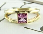 Princess Cut Pink Sapphire