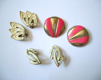Vintage Destash Clip Earrings ... Joan thought it best to make some changes. Moddities