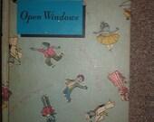 Vintage Childrens 1961 Open Windows Hard Back Book Reader Golden Rule Series