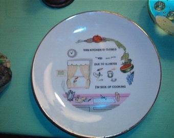 This Kitchen is closed Poem Vintage Porcelain Decorative Kitchen Plate