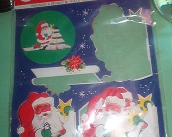 Vintage Sealed Pkg Handmade in Denmark CHRISTMAS SANTA WITH TREE Danish Design