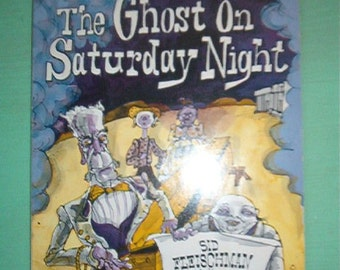 1974 Children's Scholastic Softcover Book The Ghost on Saturday Night by Sid Fleischman
