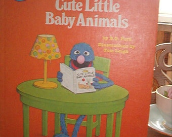 1980 Sesame Street HB Book Grover's Book of Cute Little Baby Animals