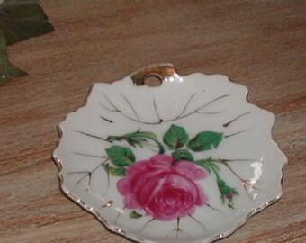 Vintage Porcelain Nasco Made in Japan Shabby Chic Pink Rose little Dish