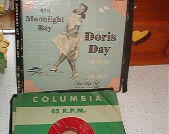 1951 Box of 45 RPM Columbia Records Starring Doris Day with Paul Weston and his orchestra and Jack Smith