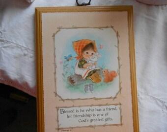 Vintage Hallmark Wall Plaque on Friendship God's Greatest Gift