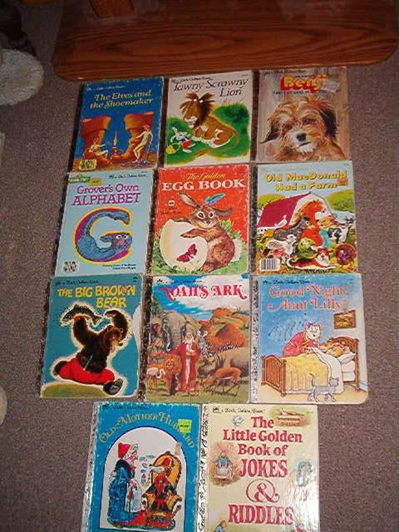 Lot of 11 Vintage A Little Golden Book Books