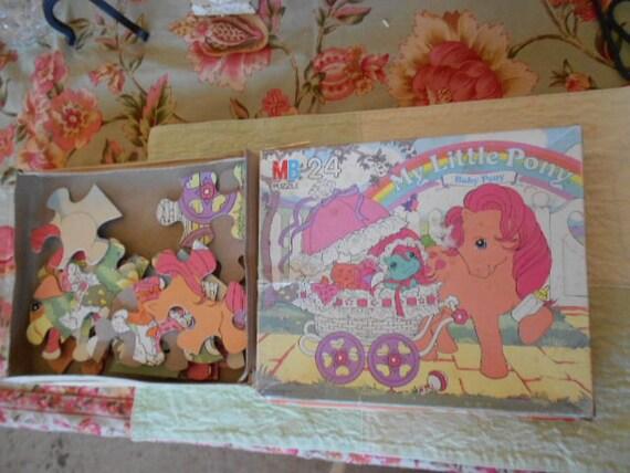 1985 Hasbro Bradley My Little Pony Baby Pony  24 Piece Puzzle 4569-1