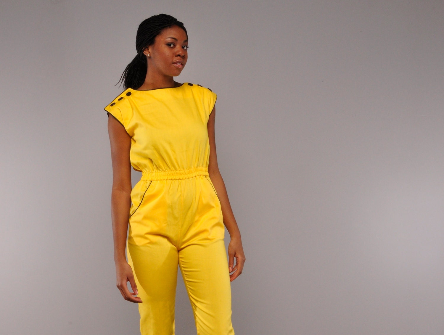 Yellow Jumpsuit Womens | Fashion Ql