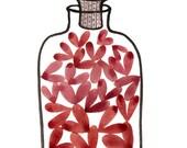 Jar of Love No. 46 original watercolor painting