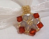 Indian Red and Grey Opal pendant