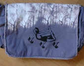 Unisex flying into the trees unique messenger bag