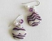Sea Shell Earrings Polymer Clay