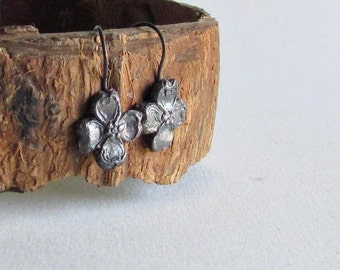 Dogwood Earrings in Precious Metal Clay