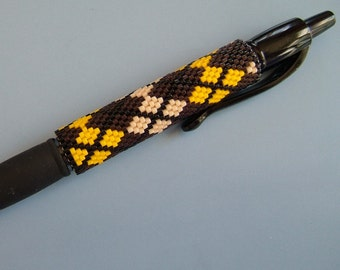 Brown and Gold 3 color G2 Pen Sleeve Pattern -PDF