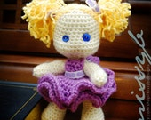 Crochet Doll Pattern PDF - Cute Little Lexi Doll - Stuffed Doll with Moveable Limbs - amigurumi pattern - Instant Download