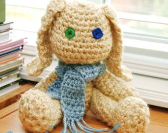 Cute Crochet Bunny Rabbit Pattern - Opie and Ophelia Bunny -  amigurumi pattern - Instant Download