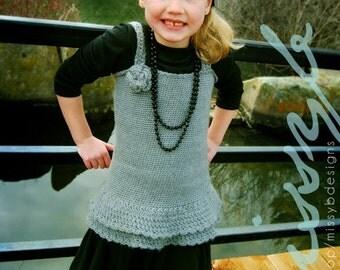 Easy Crochet Dress Pattern - Daphne Crochet Dress or Shirt - Make it Custom Size - PDF pattern - Instant Download