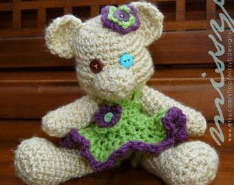 Crochet Bear PDF Pattern - Georgiana Teddy Bear - Stuffed Teddy Bear  - amigurumi pattern - Instant Download