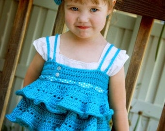 Cute Crochet Shirt Pattern - Emmaline Shirt with Ruffles - Make it Any Custom Size - PDF pattern - Instant Download