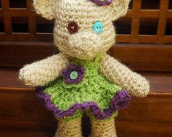 Easy Crochet Bear Pattern - Georgiana Teddy Bear - amigurumi pattern - Instant Download