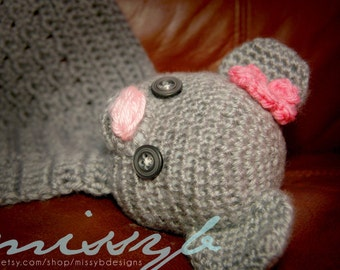 Crochet Bear Lovey Pattern - Blanket Bear for kids and babies - Fun baby shower gift - Instant Download