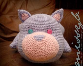 Crochet Cat Pillowpet Pattern - Kitty Stuffed Pillow Animal Toy - kids favorite - Instant Download