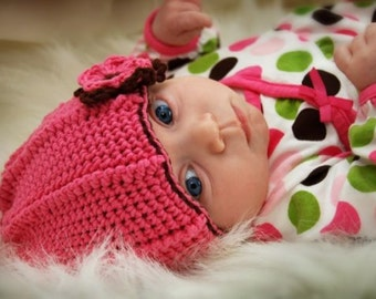 Easy Crochet Hat Pattern - child size - PDF pattern - Fun Photography Prop - Instant Download
