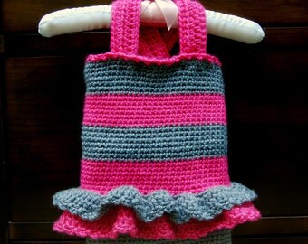 Crochet Baby Dress Pattern - Chloe Striped Tank and Shorts - Baby, Child, Custom Sizes - PDF Pattern - Instant Download