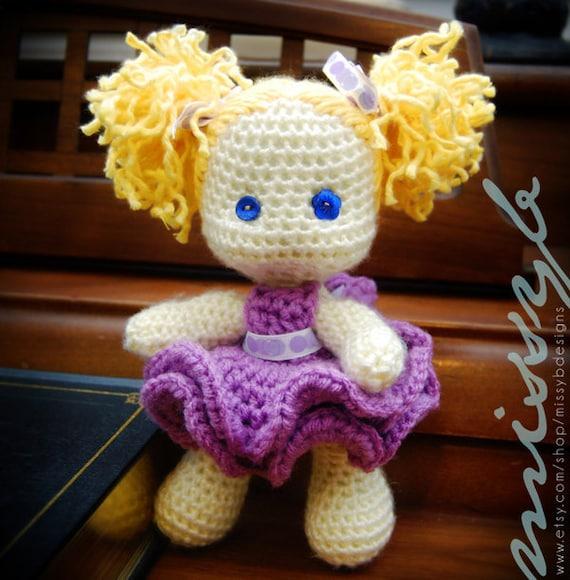 Items similar to Crochet Doll Pattern PDF - Cute Little ...