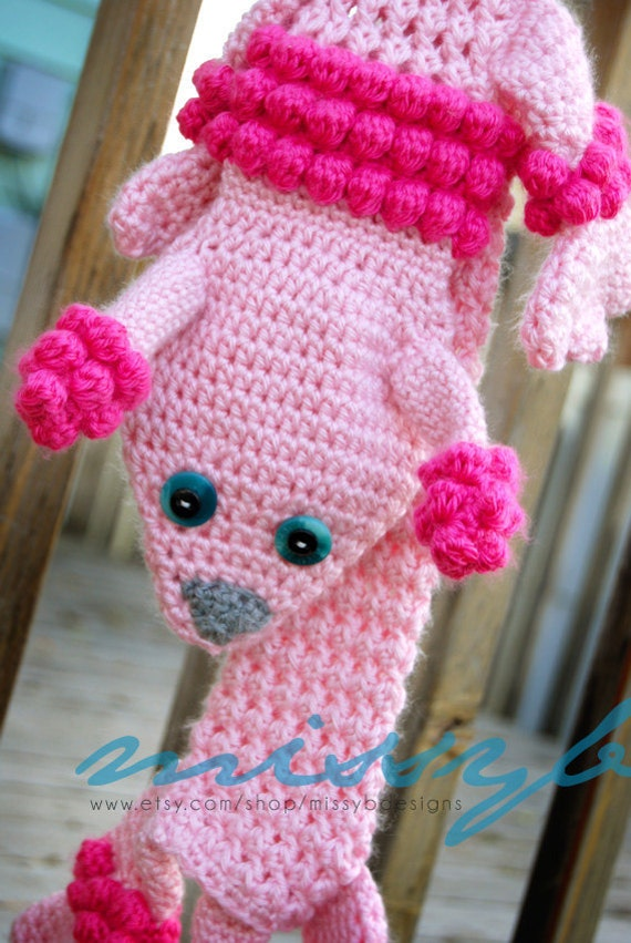 Fun Crochet Scarf Pattern - Lilleth the Poodle Scarf - PDF Pattern -  Photography Prop - Instant Download