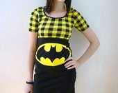 Made to order - Limited edition - Batman buffalo plaid dress