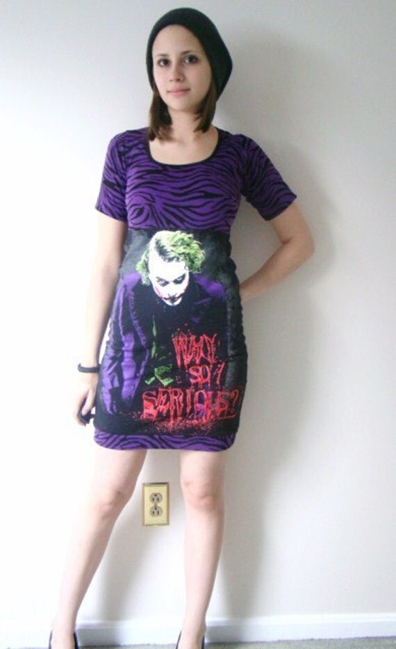 Why so serious Joker fitted zebra dress